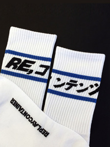 blue line socks (white)
