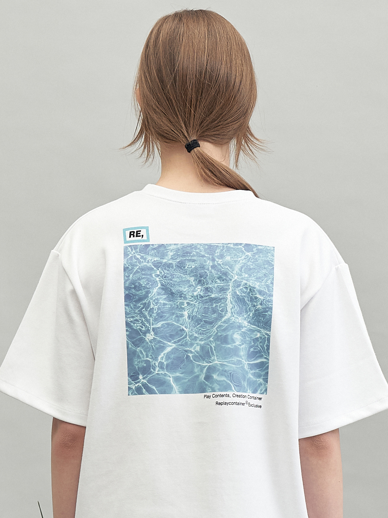 RE square campaign half tee (wave)