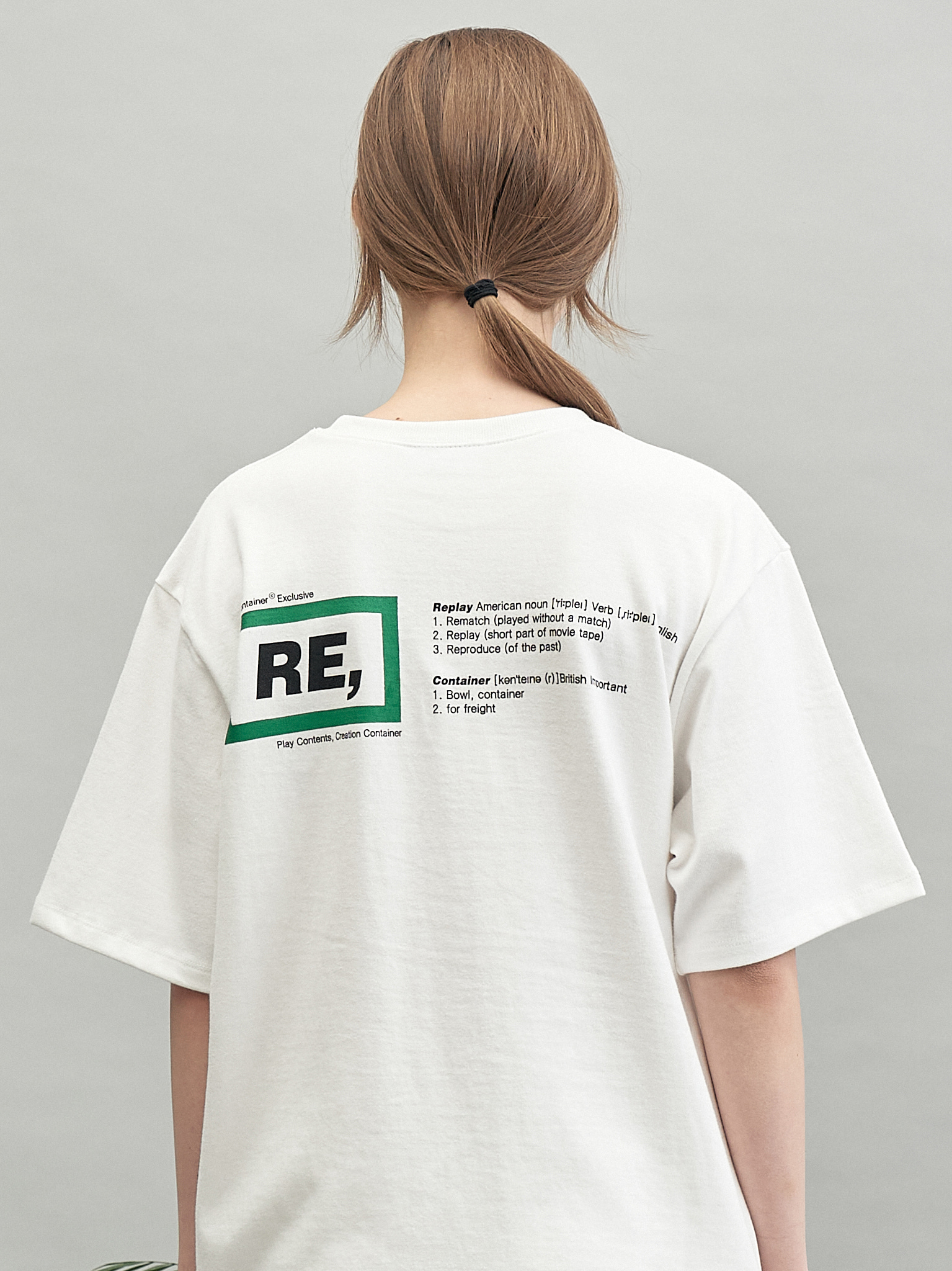 RE rectangle T-shirts (green)
