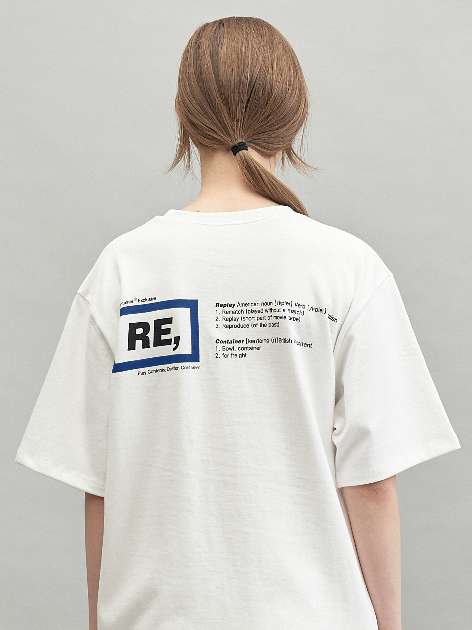 RE rectangle T-shirts (blue)