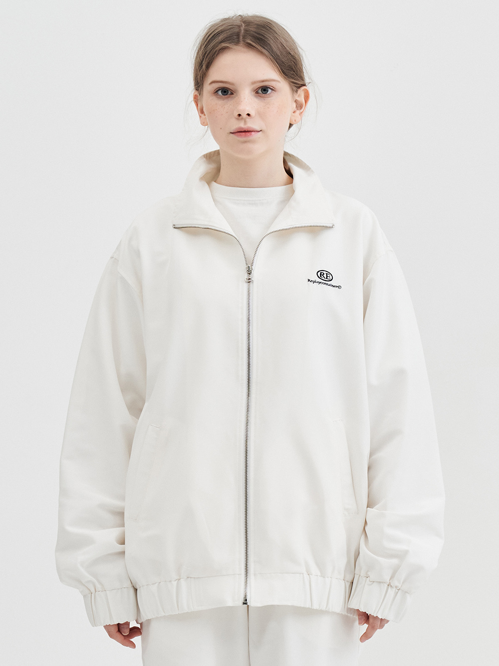 RE capsule logo track jacket (white)
