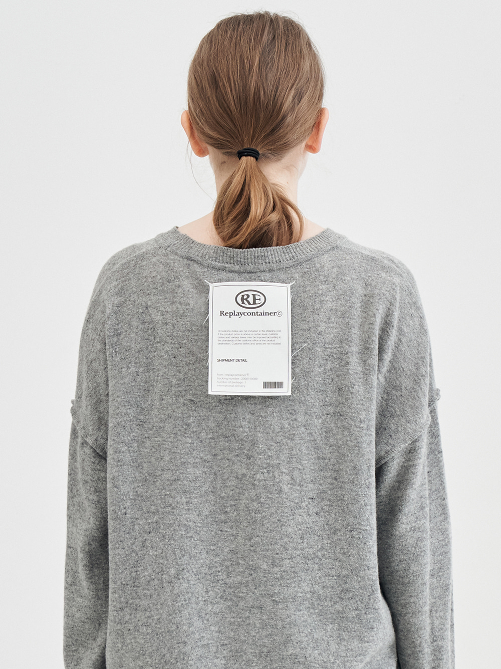 shipment overfit knit (gray) [10/1 delivery]