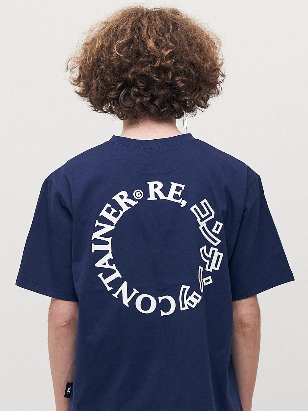 contents round logo t-shirts (navy)