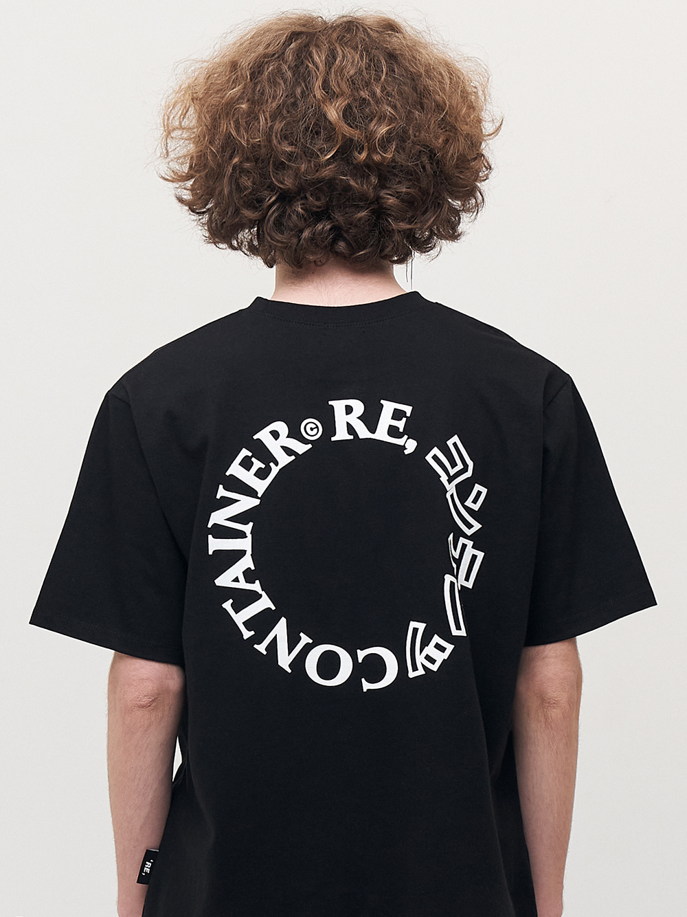 contents round logo t-shirts (black)